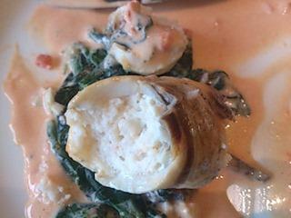 リヴィエール鯛の薄切り海老ムース包み