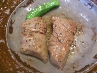 生州割烹輝髙但馬牛のヘレ肉陶板焼き
