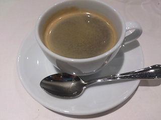 アルモニーアッシュ4周年記念三田和牛スペシャルランチ食後のコーヒー