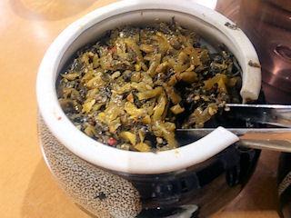 麺屋七つ星の食べ放題の高菜