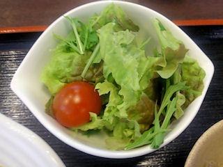 赤いりぼん牛すじ肉のカレーのサラダ