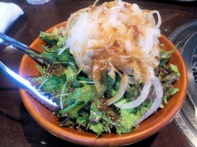 焼肉あづま苑特選スペシャル盛ペアセットのグリーンサラダ