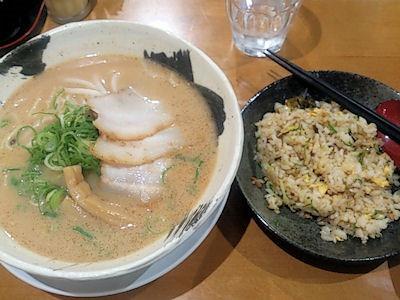麺屋七つ星七つ星ラーメンとチャーハン(小)