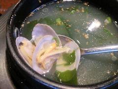 焼肉あづま苑特選スペシャル盛ペアセットのスープ