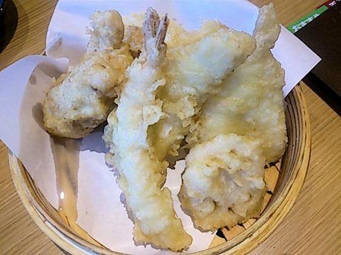 天ぷら海鮮五福天ぷら八品盛り