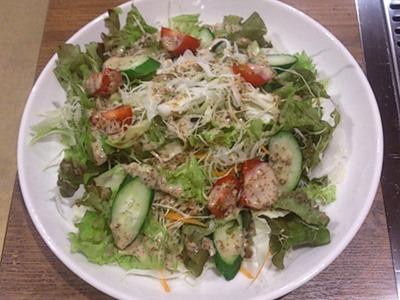 男の鉄板焼じゅん野菜サラダ