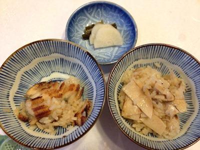 生州割烹輝髙葉月穴子ご飯と松茸ご飯