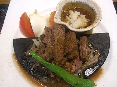 大戸屋ごはん処炭火焼きビフテキ定食特製おろしソース