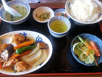 広東餃子房酢豚定食