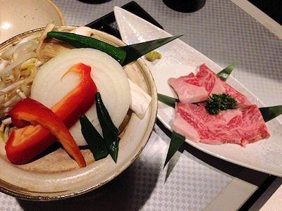 千美の春宴や ねごと神戸牛の陶板焼き