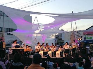 たかさご万灯祭2015駅前広場高砂高校ジャズバンド