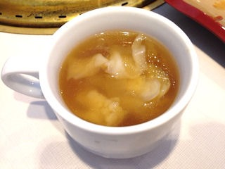 じゅうじゅうカルビカルビステーキランチのスープ