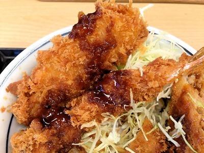 かつや海鮮・ヒレ・メンチソースカツ丼
