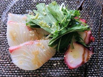 ダイニング&バー キーウエストマリーコース鯛とタコのカルパッチョ