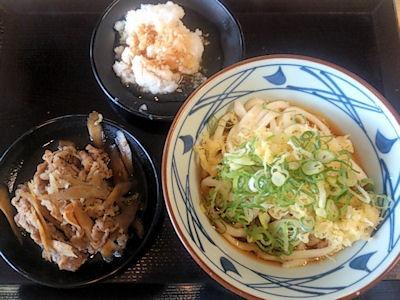 丸亀製麺鬼おろし肉ぶっかけ