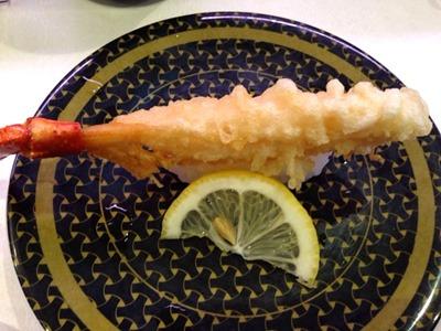 はま寿司紅ずわいの天ぷら握り