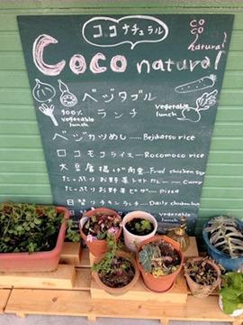 coco natual ココナチュラルのメニュー