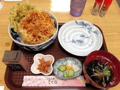 ごはん屋さくら駿河丼(桜えびとアオサのお吸い物付)