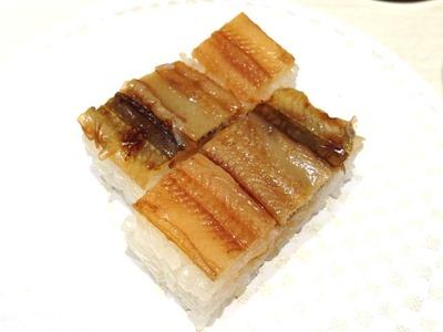 魚べい穴子の押し寿司