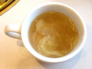 じゅうじゅうカルビ飲み放題のスープ