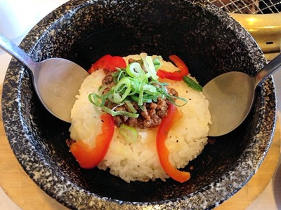 じゅうじゅうカルビ石焼チーズリゾット~カレー風味~