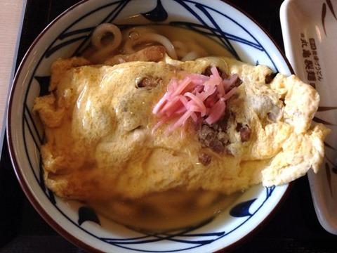 丸亀製麺だし玉肉づつみうどん