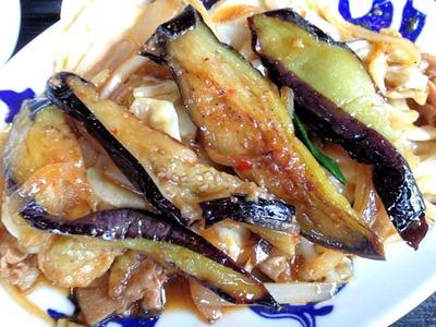 中華飯店てんじく茄子味噌定食
