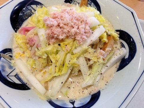 リンガーハット霜降り白菜とかにの豆乳クリームちゃんぽん