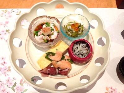 懐石ダイニングTaWaRa花コース前菜