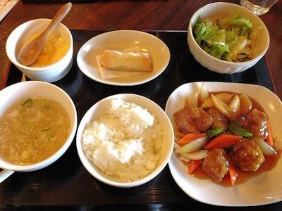 海鮮中華厨房張家日替りランチ伝統のすぶた