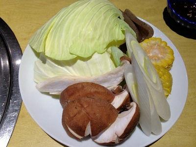 焼肉まねきや焼き野菜盛り合わせ