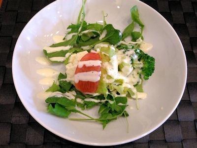 洋食グリル天平ハイシライスセットのサラダ
