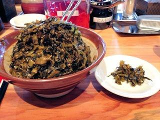 ラー麺ずんどう屋高砂店食べ放題の高菜