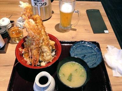 天ぷら海鮮神福大海老天丼