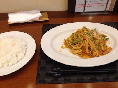 洋食グリル天平懐かしのスパゲッティナポリタンセット