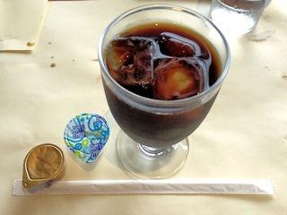 吉翔特選ランチコース食後のアイスコーヒー