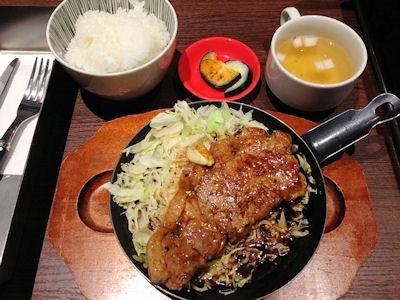 大阪道頓堀ぼてじゅう四日市とんてき定食