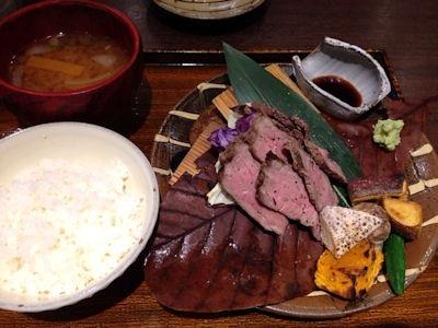 窯焼和食ばんざ・ばんざ名物 山ノ窯焼き御膳ローストビーフ