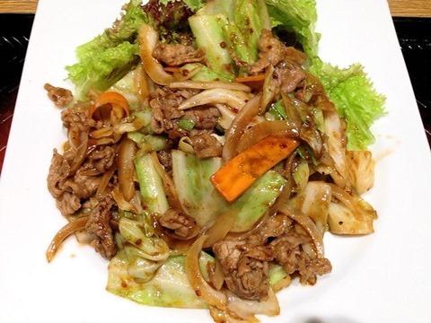 大戸屋ごはん処牛肉と野菜のコク旨炒め定食