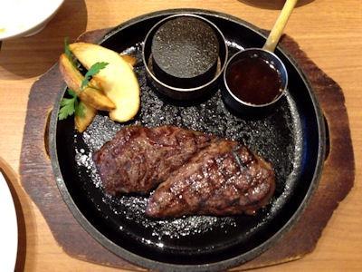 ワンカルGRILL炭火焼 ロースステーキ
