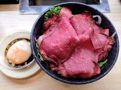 くら寿司特製玉子だれで食べるローストビーフ丼