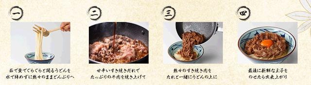 丸亀製麺牛すき釜玉うどんの説明