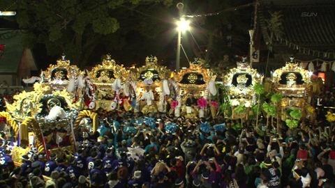 高砂神社秋祭りサンテレビ2016の映像