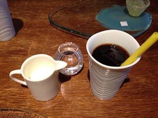 リストリアグランデアルベロ食後のアイスコーヒー