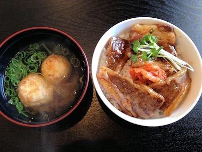 加古川たこ焼古賀流焼肉丼セット