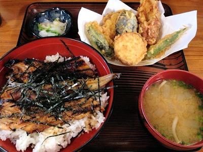 いちばん上穴子蒲焼丼と野菜天定食
