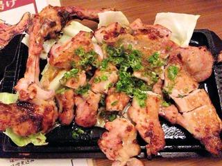旨唐揚げと居酒メシミライザカ岩手みちのく清流若鶏 モモ一本グローブ焼き