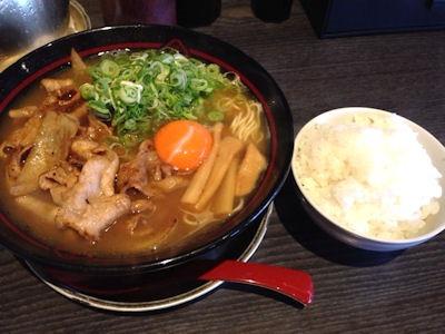 京都熟成細麺らぁ~めん京焼肉らぁ~めんと白ごはんのセット