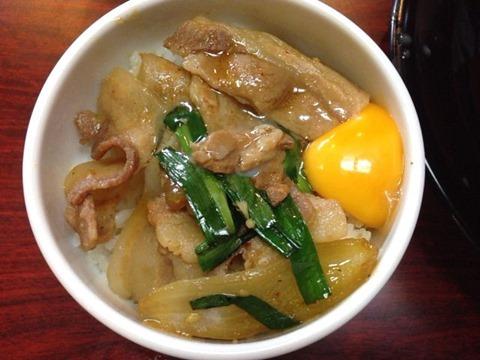 つけ麺・ラーメン丸十スタミナ丼ミニ