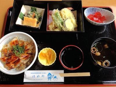 レストラン活水軒穴子丼セット